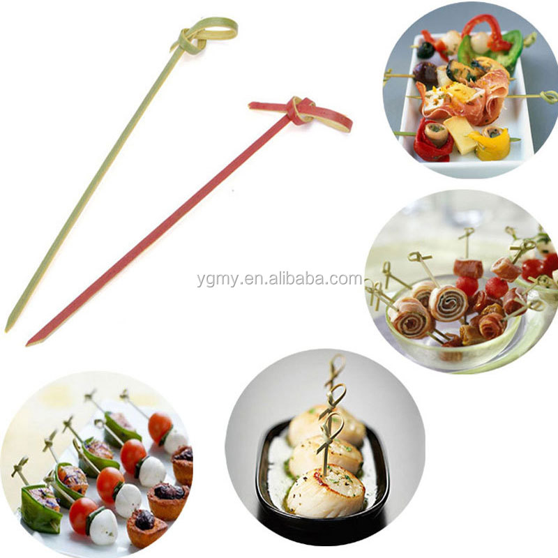 Lange Einweg Bambus Gabel Twisted Party Buffet Obst Desserts Lebensmittel Cocktail Sandwich Gabel Stick Spieß 12cm