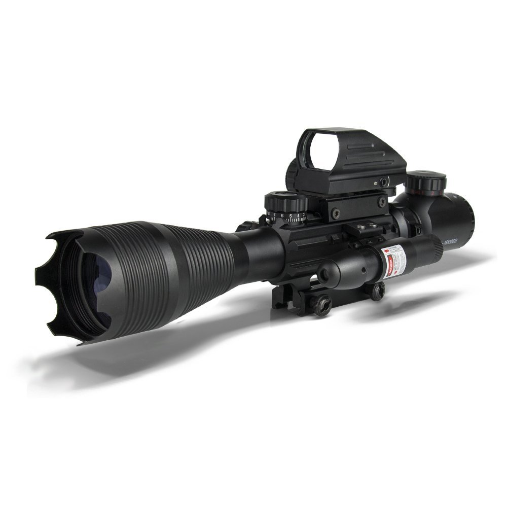 Optical Sight Riflescope Hunting 4-16x50EG Red And Green Dot Rifle scope, Black