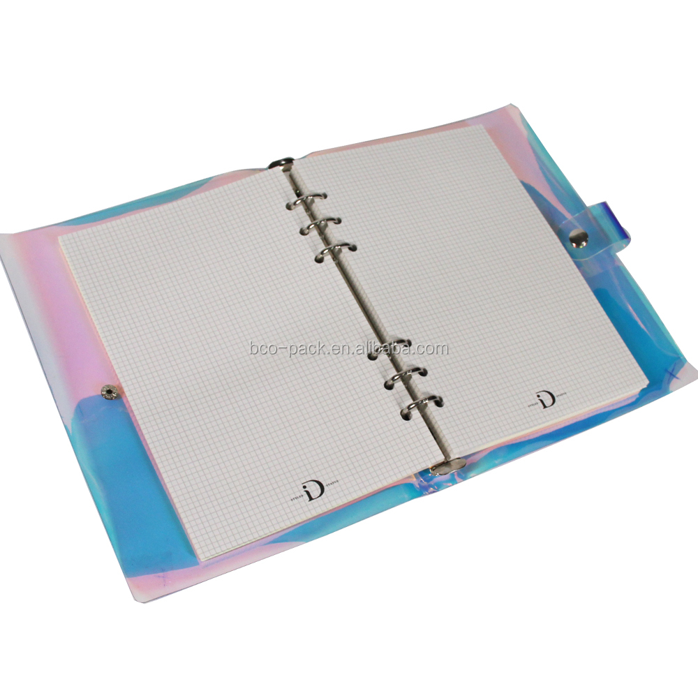 Custom plastic cover or paper cover notebook offset paper book