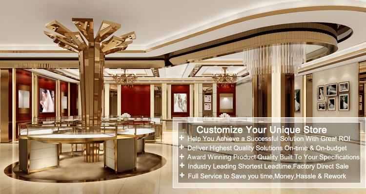 Gold Jewellery Showroom Interior Design Showcaseused Jewelry