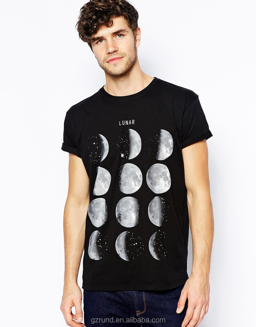 Shirt design china - Moon Design Printed China Wholesale Clothing Tshirt Free Sample Fashion Custom Shirts For Men Model Sc240 Buy Custom Tshirt Free Printed Tshirt Wholesale