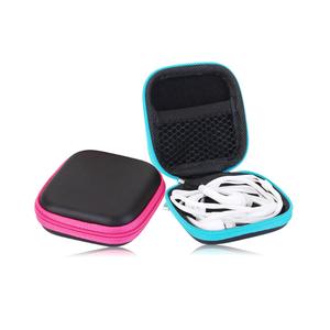 fashion design travel square earphone eva case