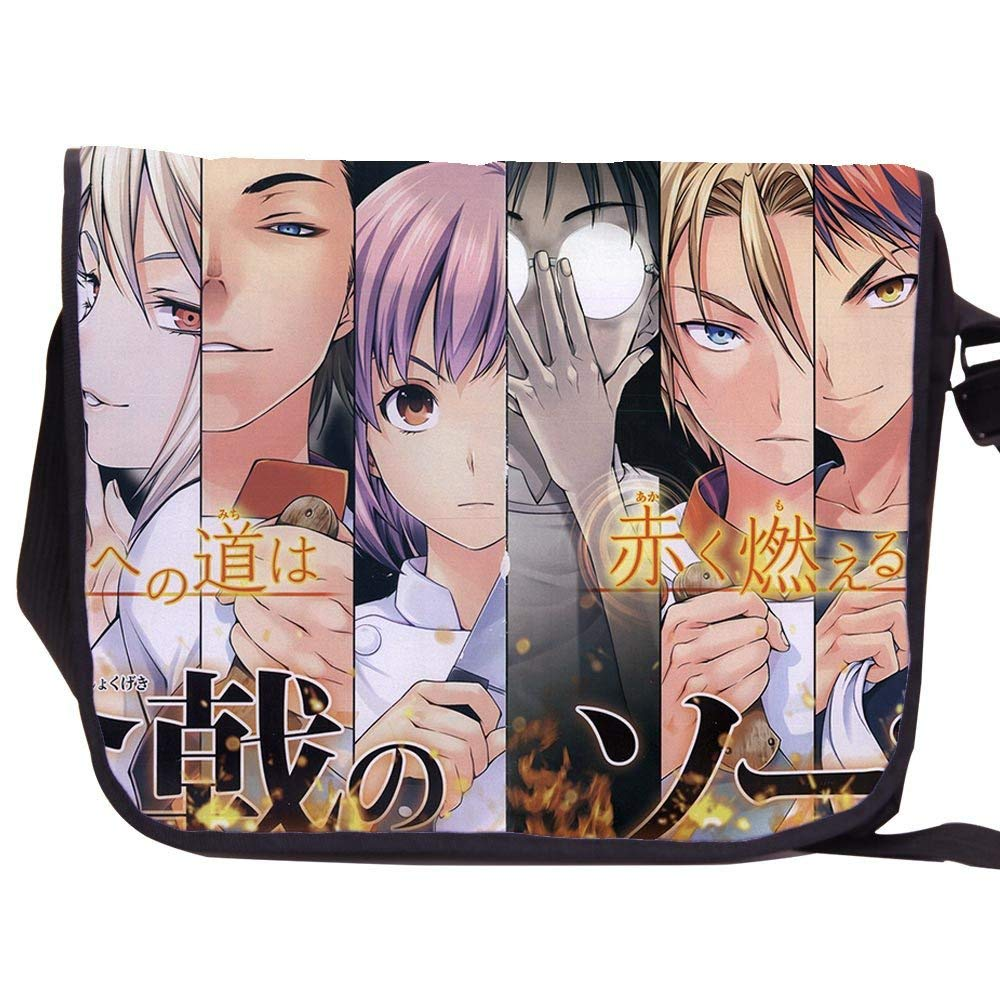 YOYOSHome Anime Shokugeki no Soma Cosplay Backpack Messenger Bag School Shoulder Bag