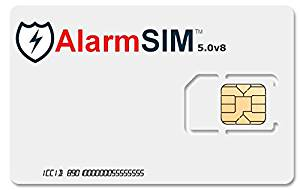 AlarmSIM 5.0v8 Prepaid SIM card for GSM Home Security Alarm System $100 Airtime Included - Airtime Rolls Over - Free Incoming Texts!
