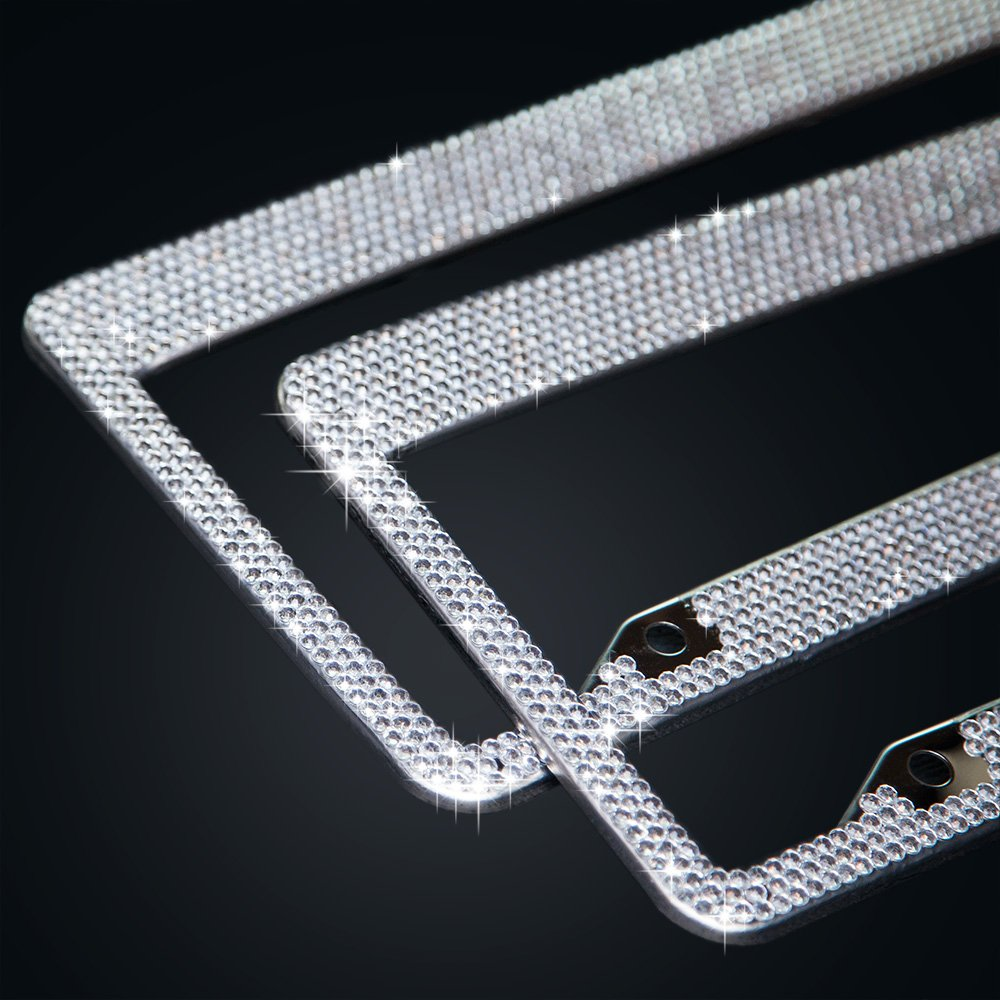 Buy BUG HULL Bling License Plate Frame (2 Pack) for Car / Truck ...