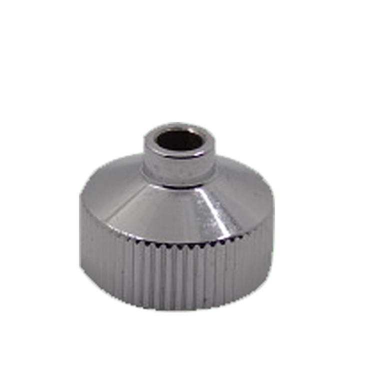 Taiwan OEM chrome plating Knurled nut CNC part