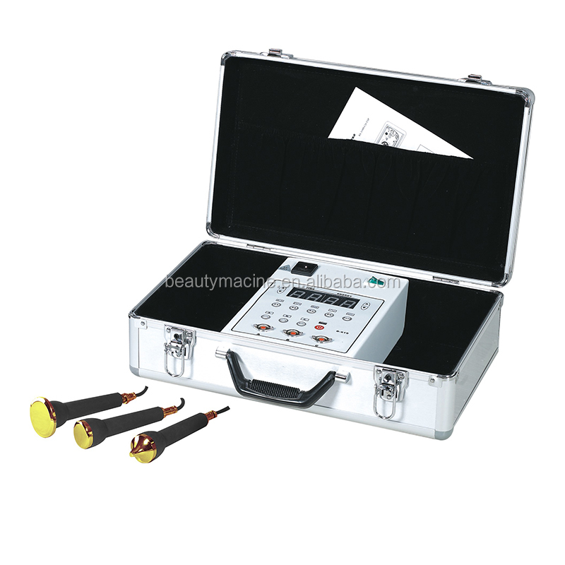 With A Case Potable Face Massage Skin Care Beauty Device With 3 Probes For Face Body And Eye Care