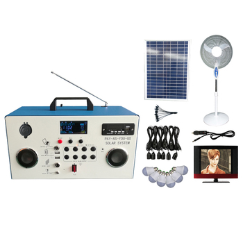 popular multifunctional portable LCD solar powered FM radio system