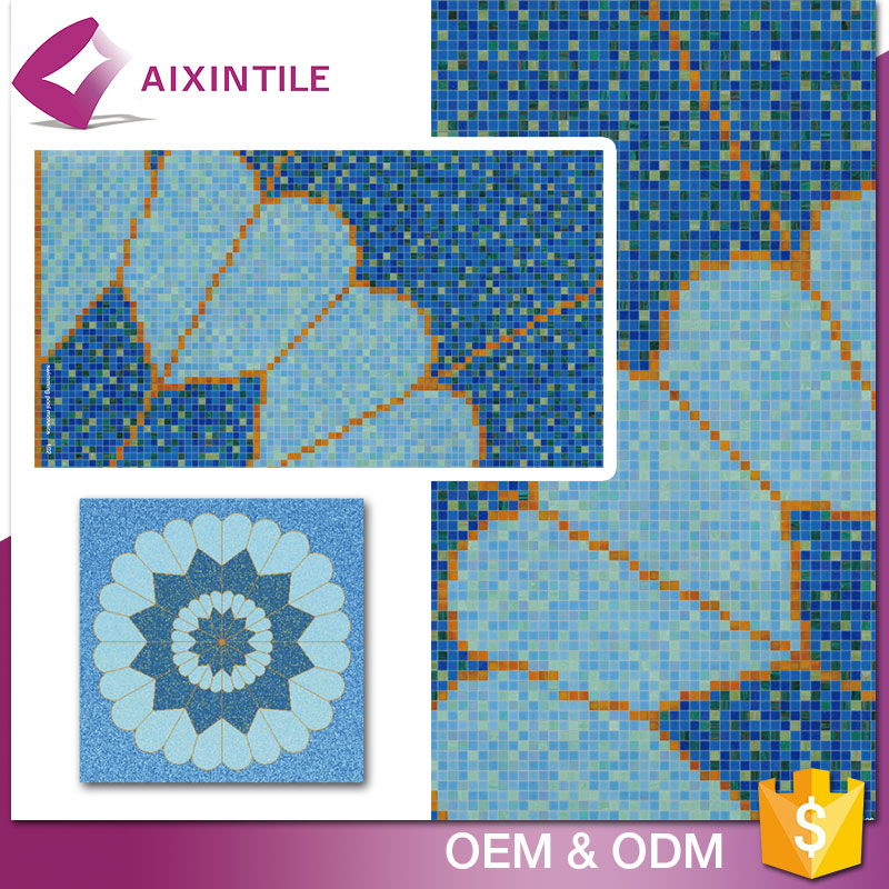 Foshan Manufacturer Swimming Pool Hexagon Mosaic Tile