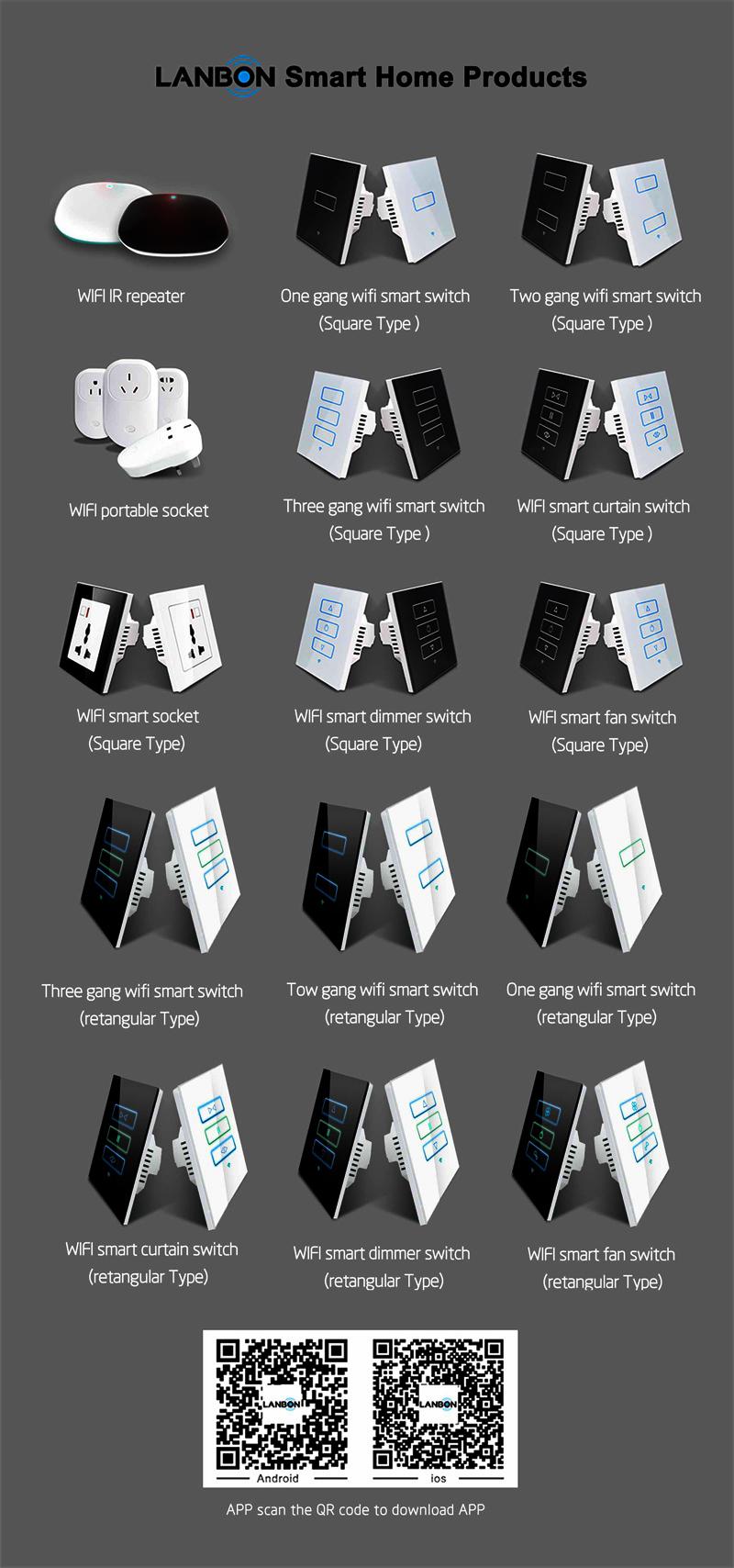 Lanbon Smart Wifi Switch Beyond Zigbee Home Automation Google Alexa Light 3 Way Speaker Phone Controlled Gang 1 2