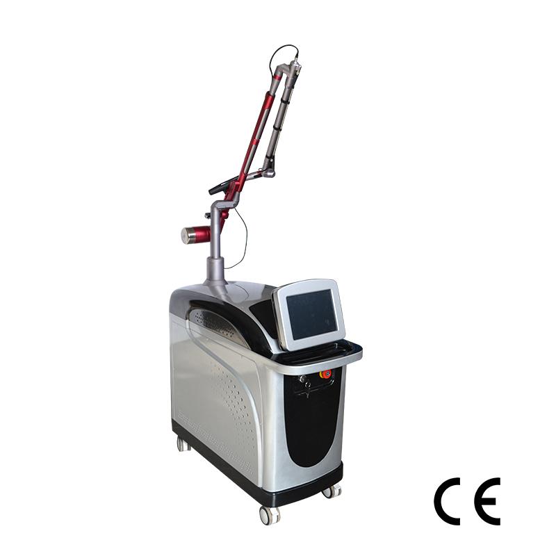 Vẻ đẹp thiết bị dọc sắc tố điều trị picosecond 1064 + 532 + 755nm laser loại bỏ hình xăm máy giá