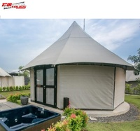 100% quality Luxury hotel tent resort tensile with all furnitures