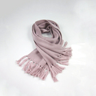 Muffler manufacture wholesale pink promotional winter knitted scarves
