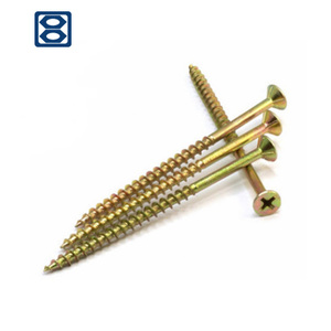 Haiyan bafang pozi double chipboard self tapping stainless steel cross recessed countersunk head wood screws for furnitures