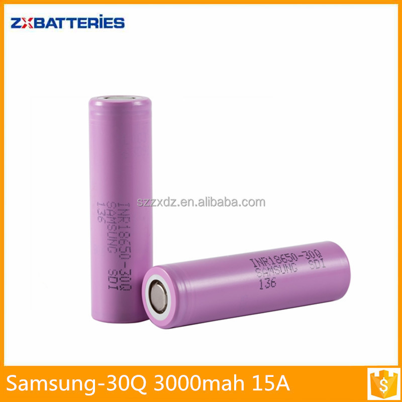 Best price 18650 samsung 30q 3000mah li-ion battery cell 18650 3.6v li ion rechargeable batteries for power tools/E-cig