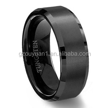 Once you see it you will like it,Sales of the highest black plating edge tungsten ring,