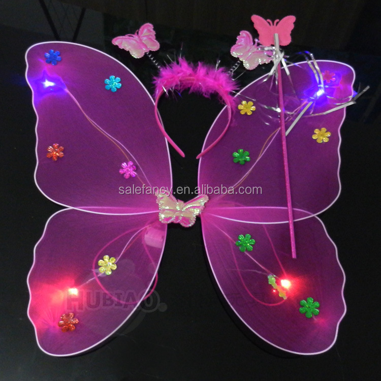 High quality light up fairy wings colorful Cheap price party led wings angel butterfly isis wings for dancing QFW-8150