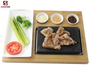 Best Selling Products Restaurant New Kitchen Korean Steak Stone Cooking Grill Pot Pans Cookware Set