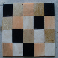 China suppliers mixed color square natural stone mosaic floor tile