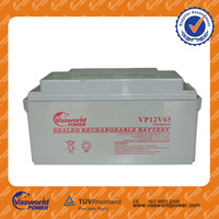 low price AGM lead acid recharge UPS battery small 12 volt 12v ups battery 12v 65ah