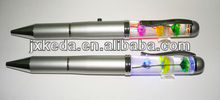 Liquid LED Light/ Liquid Floating Ballpoint Pen