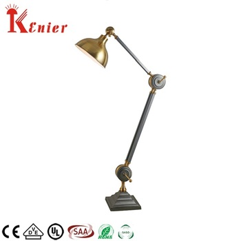 Adjule Vintage Design Br Large Standing Floor Lamp With Reading Light