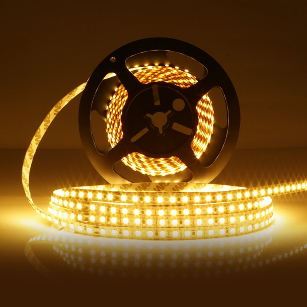 LEDMO® SMD2835 600LEDs Warm White Led Strip, Non-waterproof Warm White 3000K, 16.4Ft DC12V, 15Lm/LED, 3 times brightness than SMD 3528 LED Light Strip, LED Ribbon, LED Strip Light