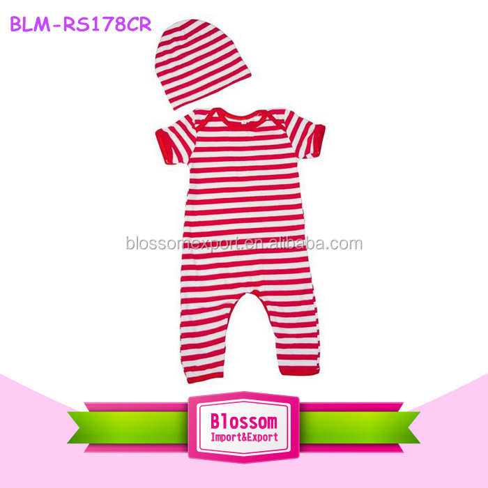 Christmas Jumpsuit Baby.Short Sleeves Full Bodysuit Wholesale Funny Baby Clothes Red White Striped Christmas Jumpsuit Baby Romper Buy Funny Baby Romper Soft Baby Cotton