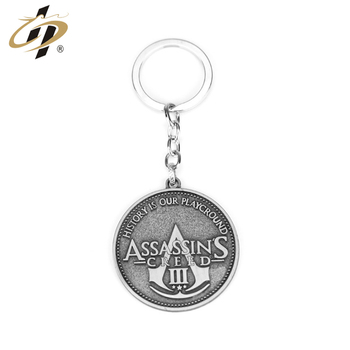 Promotional souvenir coin holder metal custom keychain for collection
