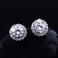Wholesale Fashion Jewelry Diamond CZ Wedding and Engagement Jewelry charming stud earrings