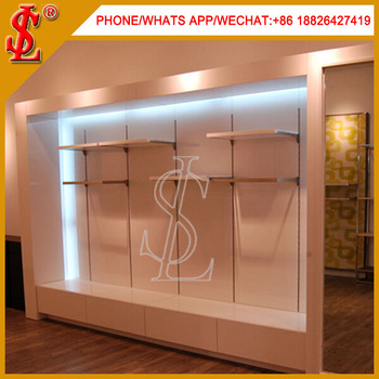 Clothing Floor Display Shelf Wall Cabinet For Clothes Design