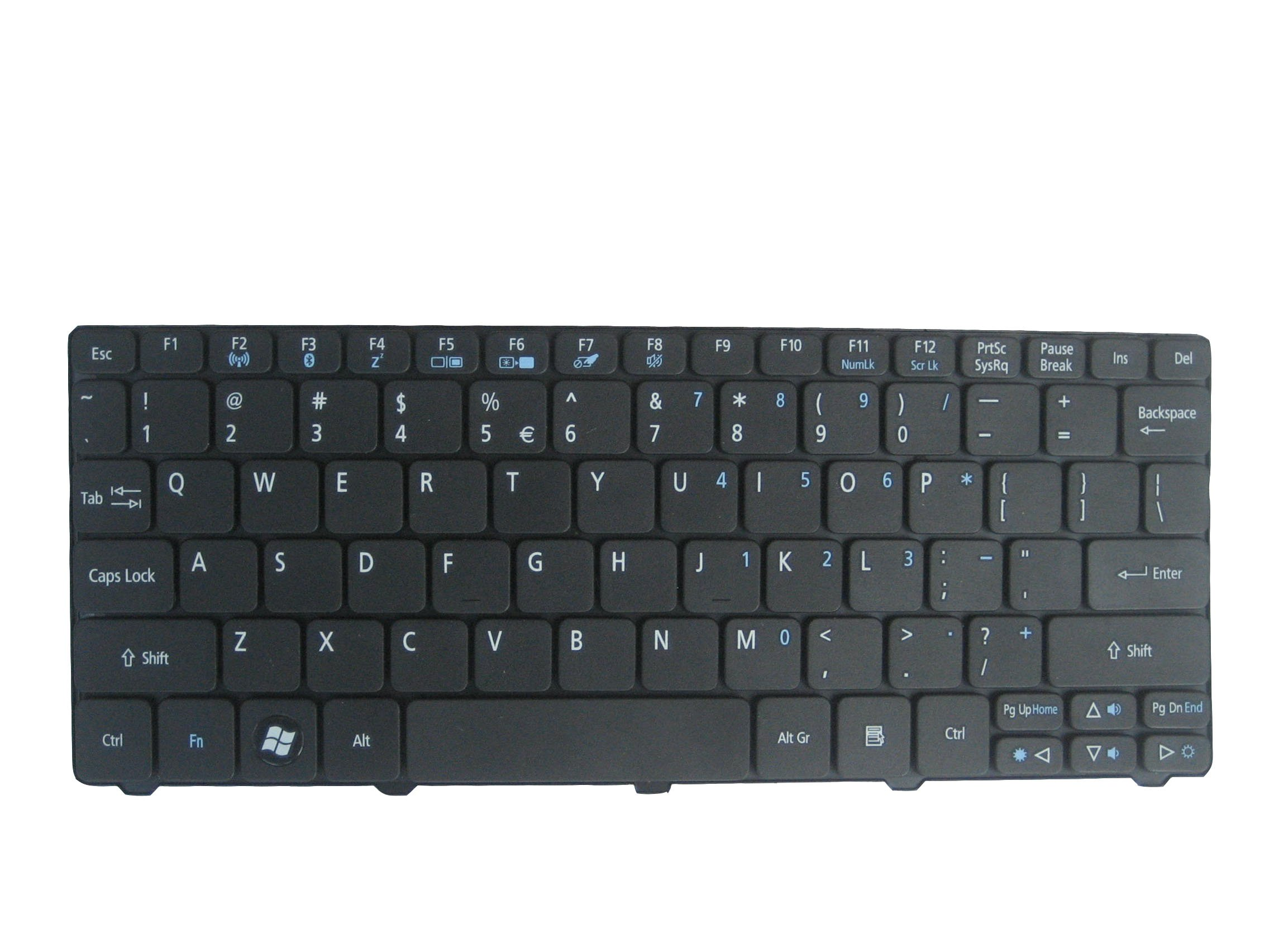 LotFancy Black keyboard for Acer Aspire One 521, 522, 533, D255, D255E, D257, D260, D270, NAV70; Part Numbers KB.I100A.086, PK130D32A00, MP-09H23U4-6984, PK130D34A00 Laptop