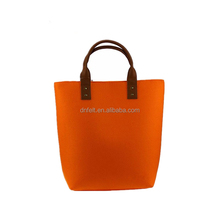 Alibaba hot selling factory price custom felt women tote shopping bags