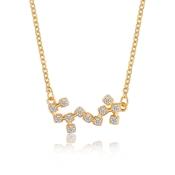Pendentif anniversaire bijoux en acier inoxydable 316L plaqué or personnalisé arabe nom collier pour grossiste