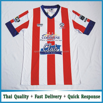 c6df479bc4b Customized Football Jersey with your own logo Sublimated AT Madrid Soccer  Jersey