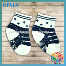 2014 New Arrival Fashion Wholesale Cotton Anti Slip Baby Cute Boy Tube Socks With Rubber Soles Many Designs