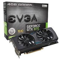 EVGA EVGA GeForce GTX 970 Superclocked ACX 2.0 4GB GDDR5 256bit, DVI-I, DVI-D, HDMI, DP SLI Ready Graphics Card...