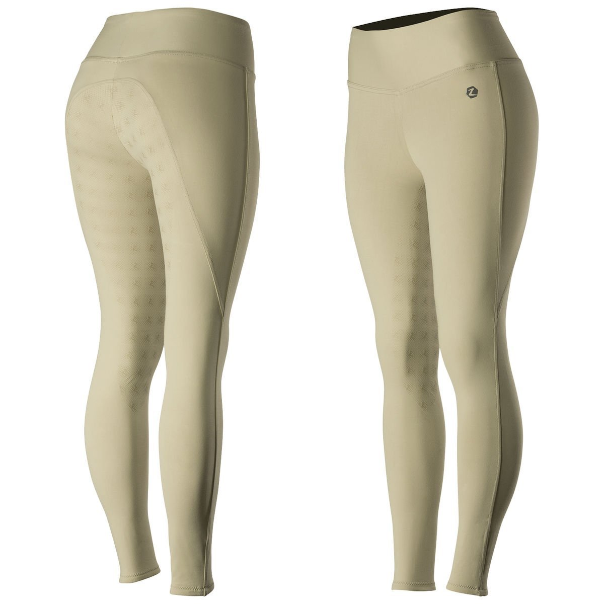 63d17ff25 Get Quotations · Ladies Horze Juliet LIGHT BROWN HyPer Flex Silicone Print  Full Seat Riding Tights English Hunt Seat