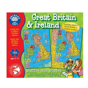 Orchard Toys Great Britain & Ireland Map Jigsaw Puzzle (150 Pieces ...