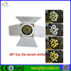 guangzhou lighting 36*1w cold&warm white led par light wiht barn door