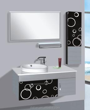 Modern Design Pvc Bathroom Cabinet Wash Basin