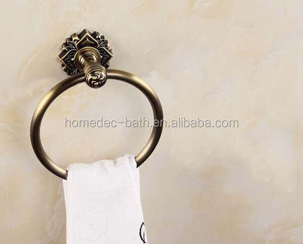 Antique Bronze Bathroom Round Towel Ring Towel hanging rack