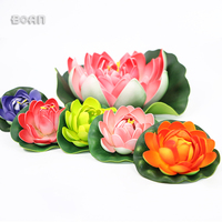 Indoor Decorative Artificial Floating Water Lily Flower For Pool