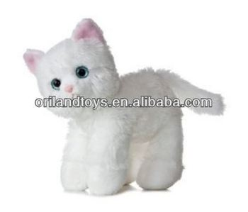 China Lovely A Cute Little White Stuffed Cat Icti Audited Buy