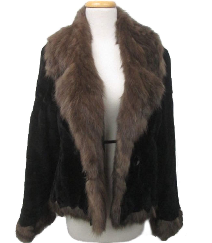 Women's Sz 8 New Brown Sheared MInk Fur Coat Jacket Stroller with SABLE Fur