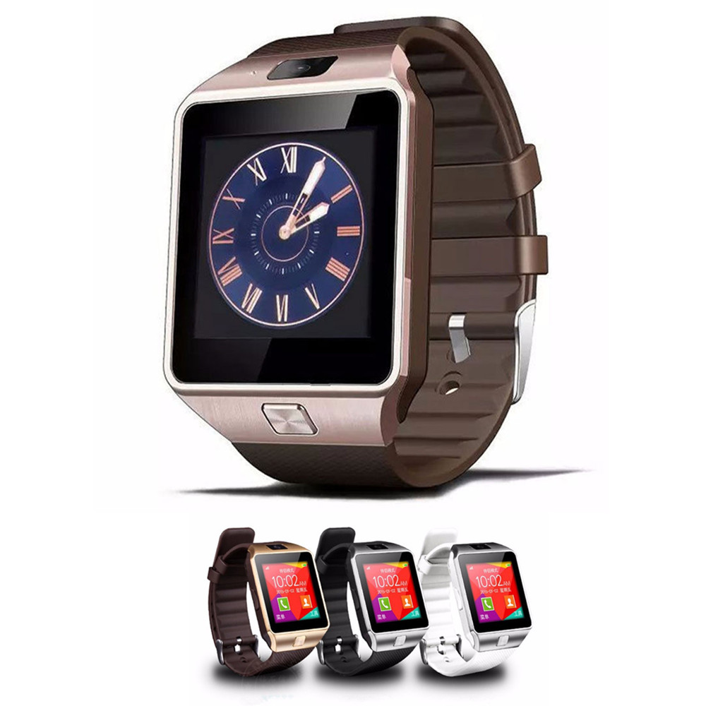 CE ROHS DZ09 bluetooth smart watch touch screen dual sim android smart watch