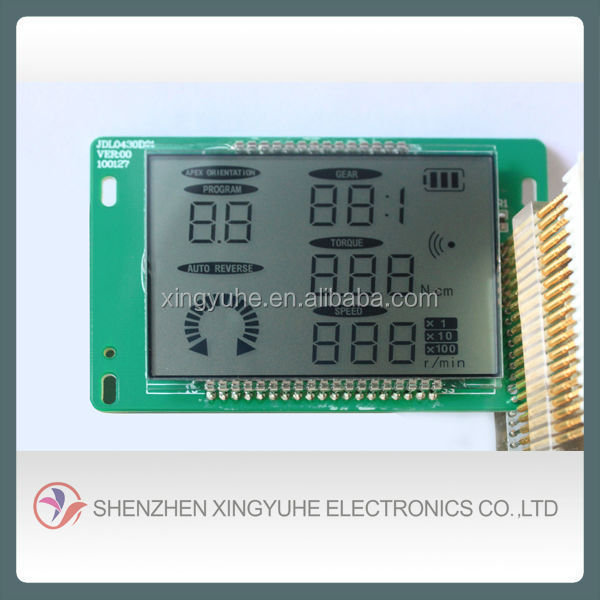 liquid crystal display 7 segment lcd module