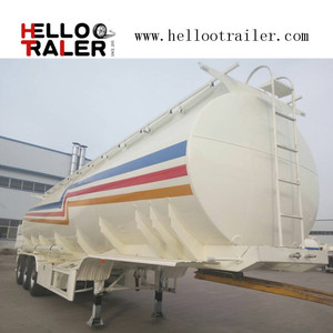 Tri - Axle 50000 Liters Sulfuric Acid Chemical Tank Trailer for Liquid Transport
