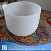 Large diameter quartz frosted crystal singing bowl 18""