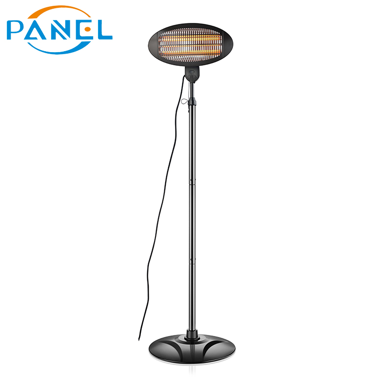 Quartz tube outdoor infrared patio garden heater 2000W electric heater with tip-over switch